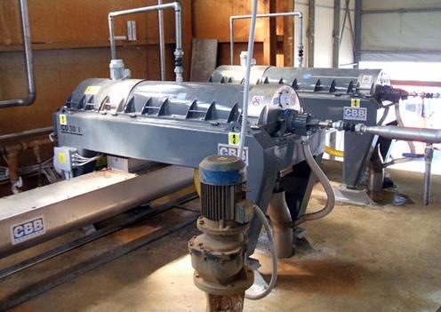 CBB centrifuges installation