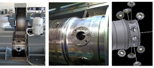 3 photos of discharge bushings