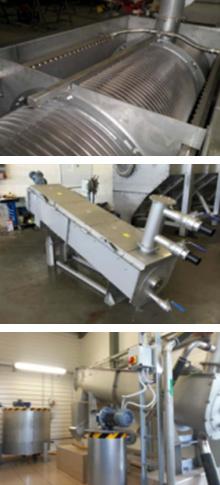 3 photos of DRYCAKE Screw Press