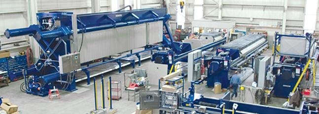 J-Press filter presses on shop floor