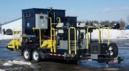 Filter press pilot unit on trailer