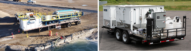 Photos of 2 Full Circle Water portable wastewater filtration systems