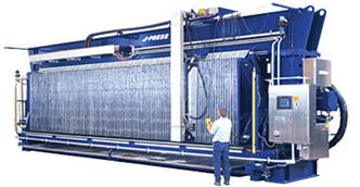 J-Press Overhead Tension Filter Press
