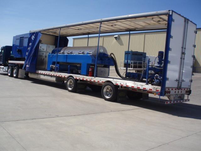 Mobile decanter centrifuge rig