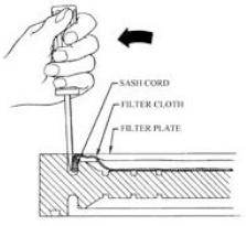 Remove filter cloth diagram