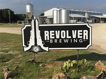 Revolver Brewing sign