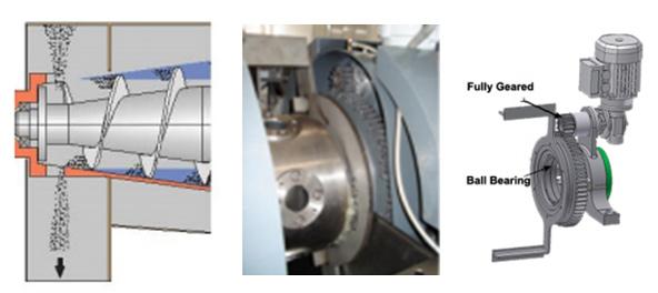 3 images of sludge cover scraper mechanism