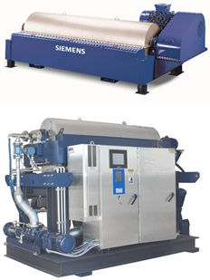 2 Siemens decanter centrifuges