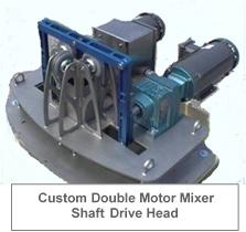 Custom Double Motor Mixer Shaft Drive Head