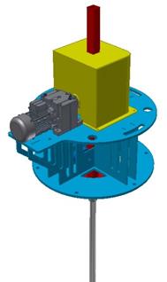 CAD rendering of VORT-X Ring Mixer drive head