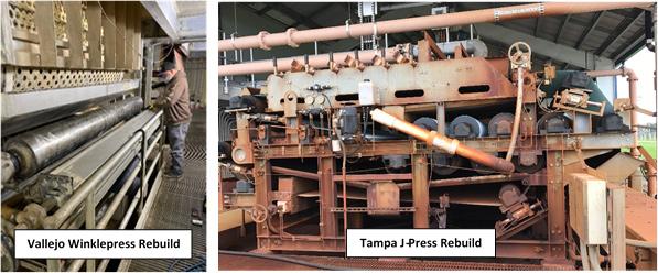 Left - Vallejo Winklepress Rebuild, Right - Tampa J-Press Rebuild